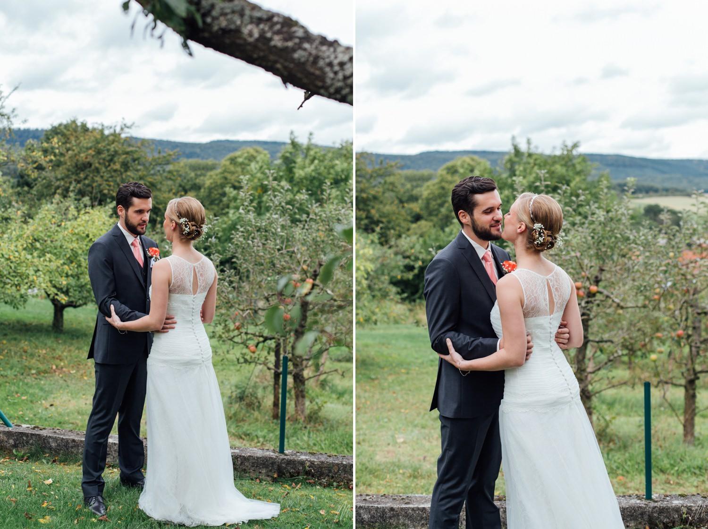 first look lors d'un mariage émotion alsace