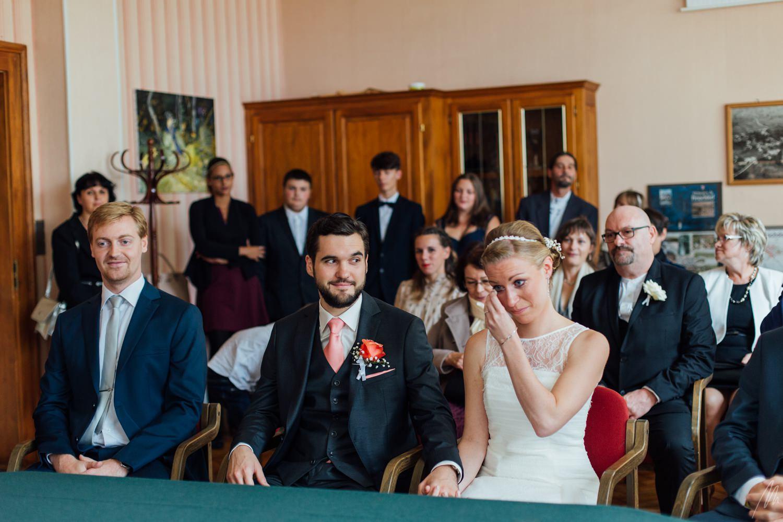 larmes émotion cérémonie civile mariage haguenau
