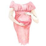 aquarelle grossesse
